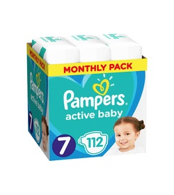 PAMPERS Active Baby Monthly Box No 7 (15+kg) 112τμχ