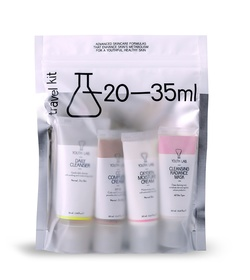 YOUTH LAB Travel Kit - Daily Cleanser 35ml, Cleansing Radiance mask 20ml, CC Complete Cream SPF30 20ml, Oxygen Moisture Cream 20ml