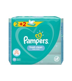 PAMPERS Fresh Clean 208τμχ (2+2)