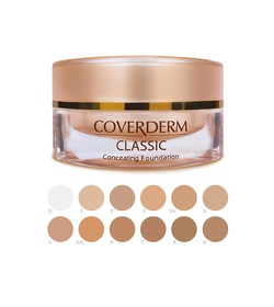 COVERDERM Classic Concealing Foundation SPF30 05 15ml