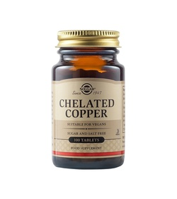 SOLGAR Chelated Copper 2.5mg 100 ταμπλέτες